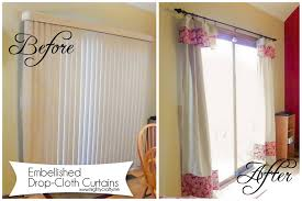 Curtain With Blinds Mightycrafty Drop Cloth Curtains