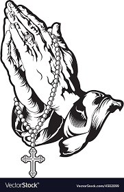 praying with rosary royalty free vector image