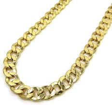 gold cuban necklace images 5 5mm 14k yellow gold cuban link chain necklace jpg