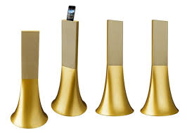 philippe starck design philippe starck designs the ancient gold zikmu speakers for parrot