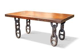 metal table legs ikea farm table top with anchor chain legs coffee table brunotaddei