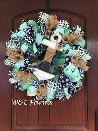 nautical wreath anchor wreath house wreath summer wreath