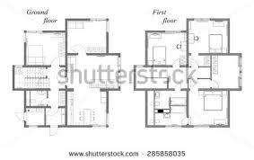 architect plan draft plan arrangement all furniture architect stock illustration