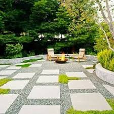 no grass backyard dual table set the detailed landscape framing