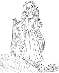 colouring pages disney princess rapunzel printable for toddler
