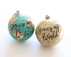 globe ornament etsy
