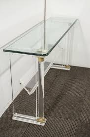 Clear Console Table Styles Unique Material Of Acrylic Console Table For Interior