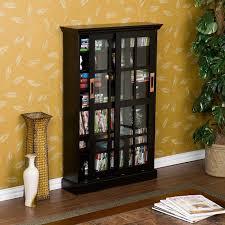 Media Cabinet With Sliding Doors Fancy Media Storage Cabinet With Doors Bronson Black Sliding Door