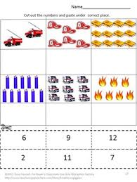 safety math literacy cut paste special education kindergarten fine