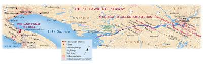 st seaway map st seaway inland superhighway canadian geographic