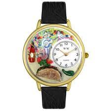 montre cuisine montre whimsical unisexe de cuisine mexicaine boîtier or