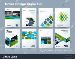 abstract vector business template set brochure stock vector