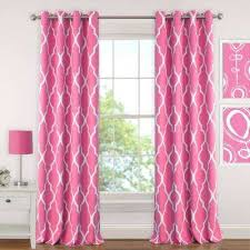 Pink And Purple Curtains Hot Pink Curtains U0026 Drapes Window Treatments The Home Depot