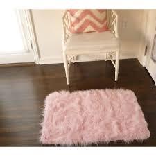 Pink Fur Chair Home Dynamix Silky Sheepskin Fur Rug Pink Walmart Com