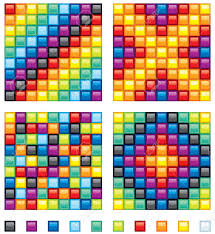 vector colorful design elements four seamless patterns and