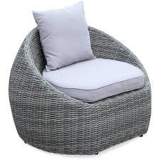 canapé de jardin design salon de jardin design arrondi ritardo en résine tressée arrondie