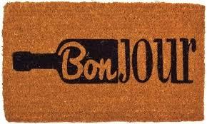 Welcome Doormats Bonjour Wine Welcome Doormat Coco Mats N U0027 More