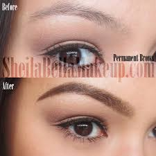 permanent makeup eyebrows powdered look sheila bella permanent