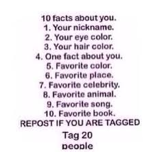 ßrooklynn on ten facts about me tag tagged by
