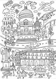 Coloriage  Basilique du SacréCœur de montmartre  Coloriages à