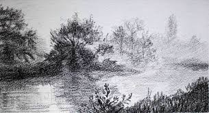 in easy landscapes to draw in pencil landscape drawing for