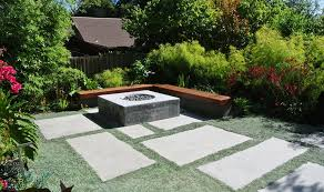 alternatives to grass in backyard design ideas backyard with large concrete pavers lawn