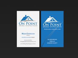 masculine elegant business card design for on point home