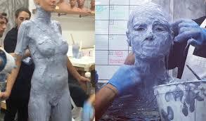 prosthetic halloween mask heidi klum gets nakked for crazy halloween costume youtube