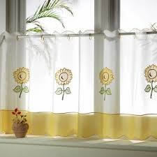 Sunflower Kitchen Curtain by Decor Sew Easy Cafe Curtains With Kitchen Curtains Walmart Also