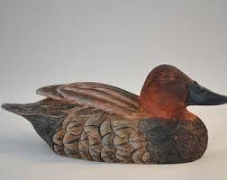 Duck Home Decor Bird Decoy Etsy