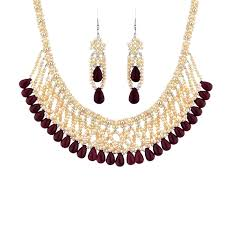 pearls necklace online images Sri jagdamba pearls astounding pearl necklace set buy online png
