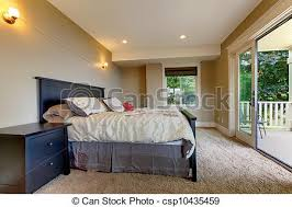 moquette chambre à coucher grand door balcon moquette chambre à coucher images de stock