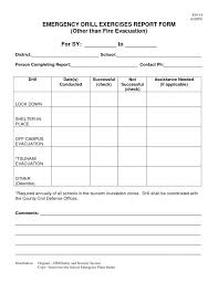 emergency drill report template emergency evacuation mock drill report professional and high