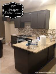 restain kitchen cabinets darker tea staining unfinished oak cabinet diy staining kitchen