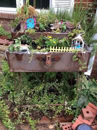 frugal fairies created a delightful space in my herb garden