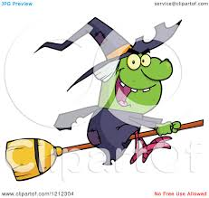 Clipart Of A Cartoon Chubby Halloween Witch Taking A Selfie With A
