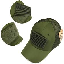 Military Flag Patch Military Army Green Usa Flag Patch Mesh Baseball Hat Cap