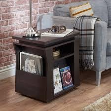 Storage End Table Furniture Of America Kai Double Storage Dark Espresso End Table