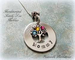 mothers day birthstone jewelry family tree necklace handsted family tree jewelry birthstone