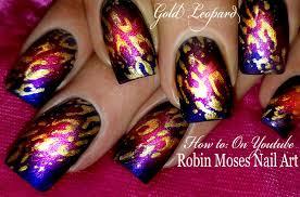 spotlight leopard animal print nails diva nail art design