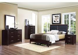 irving blvd furniture edina brown espresso upholstered queen