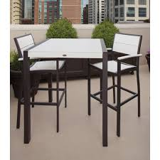 Bar Set Outdoor Patio Furniture - trex outdoor furniture surf city textured silver 3 piece patio bar