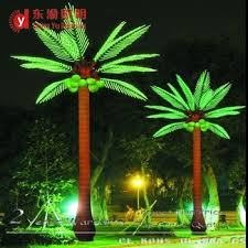palm tree solar lights solar led outdoor lanscape light up artificial coconut palm tree