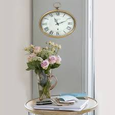 stratton home decor gold oval wall clock gold s02199 at