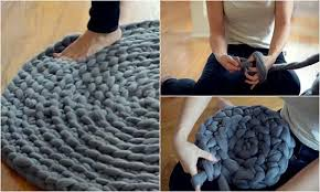 how to crochet a giant circular rug no sew home and gardening