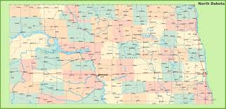 Maps De Usa by Road Map Of North Dakota With Cities