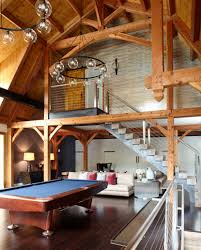 Pool Table Chandeliers Niche Contemporary Chandeliers Make Big Statement In Recreational Barn