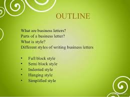 Semi Block Letter Format Business Letter Business Letter And Different Styles