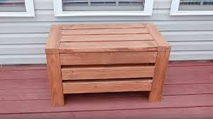 outdoor storage bench seat for the yard diy project