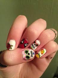 deadpool meets taco taco meets sugar skull nails xd my nails